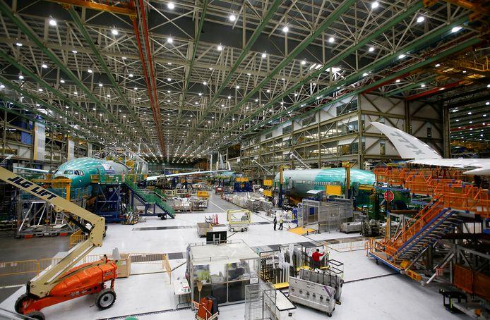 De productie van de Boeing 777X