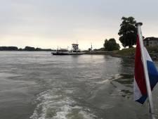 Lage waterstand op de Waal: veer Brakel - Herwijnen alleen voor fietsers en voetgangers
