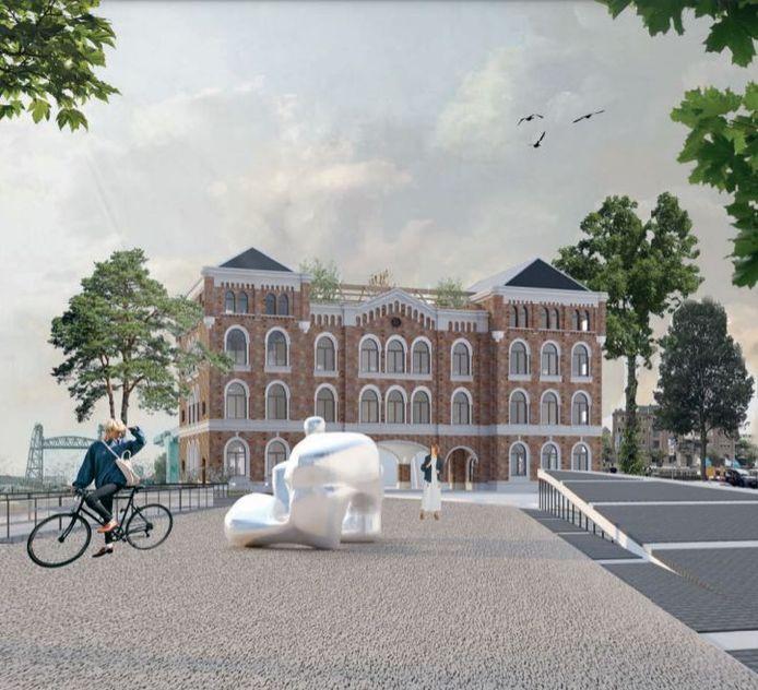 Twee Rotterdamse architectuurstudenten hebben voor het Poortgebouw een plan bedacht waarbij het plein ervoor bij het monument wordt betrokken. Ook voor het pand zelf hebben ze plannen zoals een daktuin.