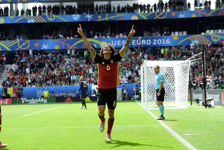 België klopt Ierland in de tweede groepsmatch van het EK 2016 in Frankrijk. De 2-0 van Axel Witsel komt er na een collectieve aanval met 28 opeenvolgende passes.