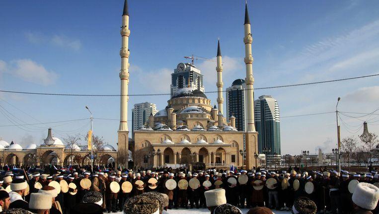 De centrale moskee in de Tsjetsjeense hoofdstad Grozny. Beeld afp