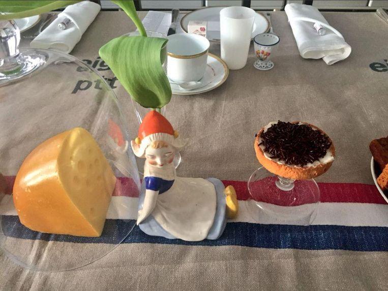 Het ontbijt dat VN-ambassadeur Karel van Oosterom gisteren serveerde aan de andere leden van de Veiligheidsraad. Beeld