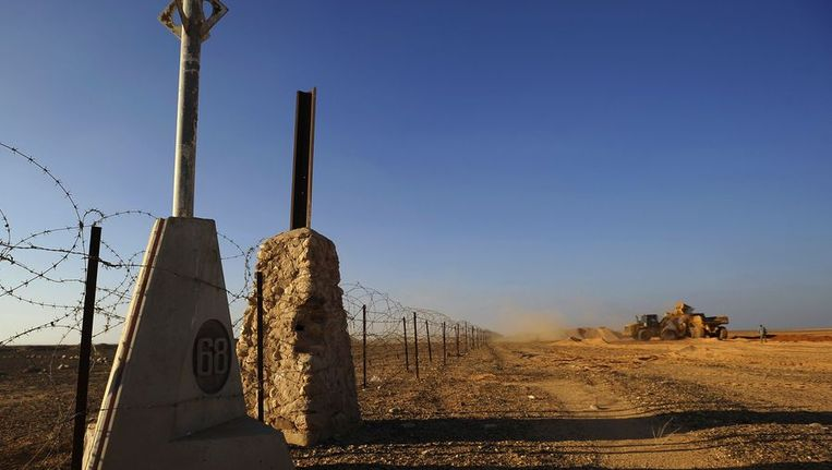 De Israëlische grens mert Egypte Beeld afp