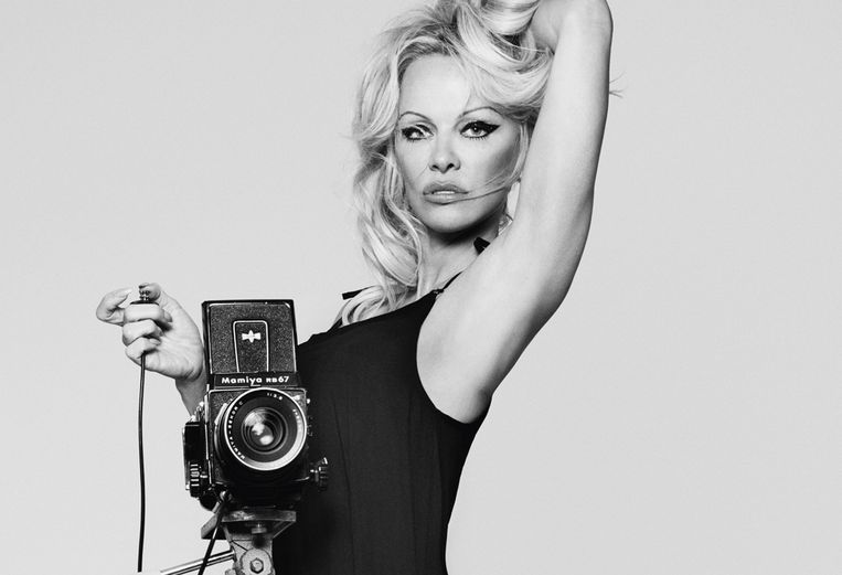 Pamela Anderson, hier nog tijdens een fotoshoot voor luxelingerielabel Coco de Mer.