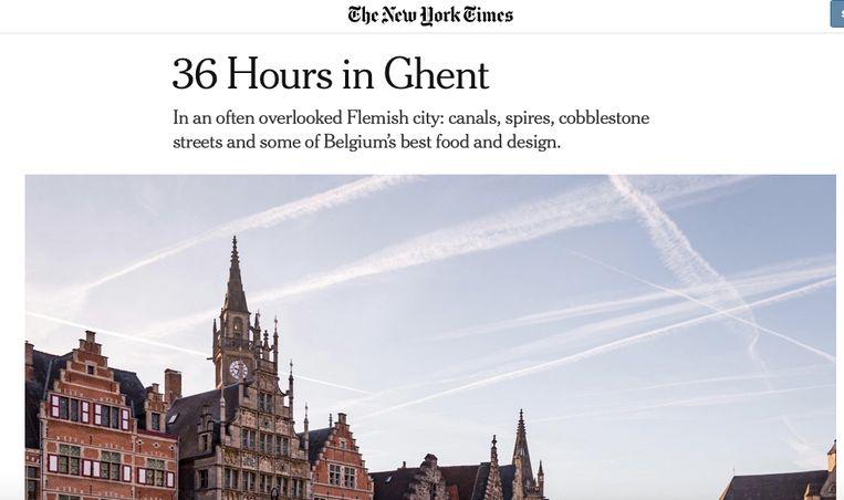 The New York Times bewierookt Gent.