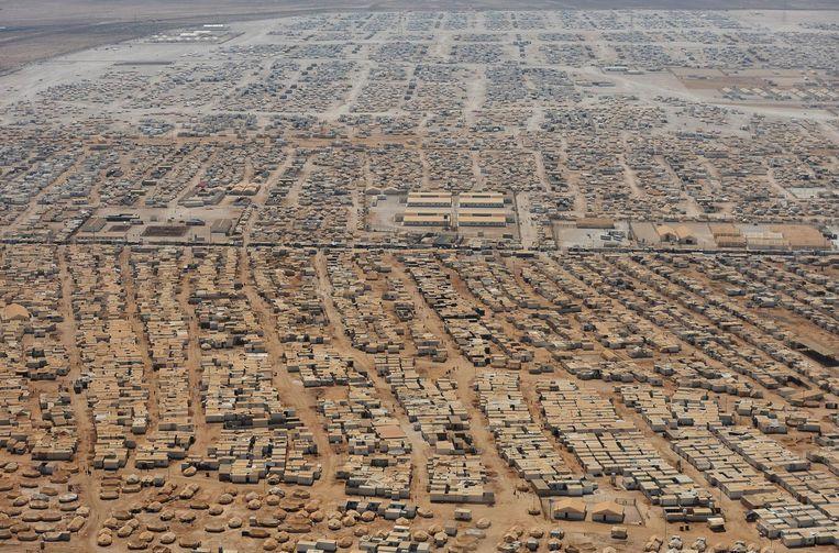 Vluchtelingenkamp Zaatari Beeld afp