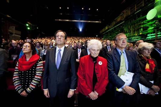 In 2010 tijdens het voorjaarscongres van D66, waar oprichter Hans van Mierlo werd herdacht.
