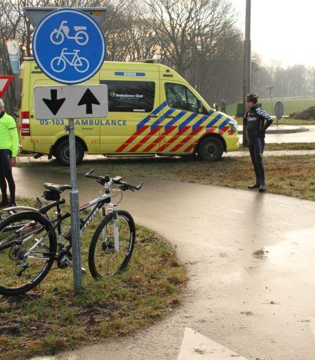 Mountainbikers gewond op spekgladde wegen rond Holten