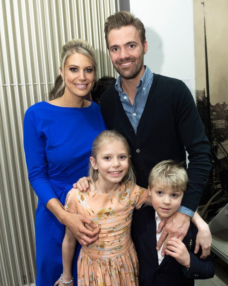 Nele, Philippe en hun kids.
