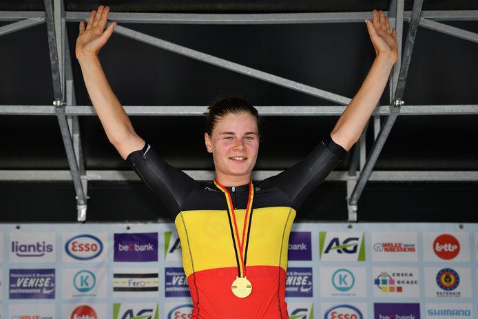 Lotte Kopecky pakte eind augustus de Belgische titel.