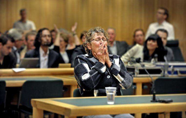 Ina Post krijgt in 2010 te horen dat zij wordt vrijgesproken van de moord op een bejaarde vrouw in 1986. Beeld Raymond Rutting