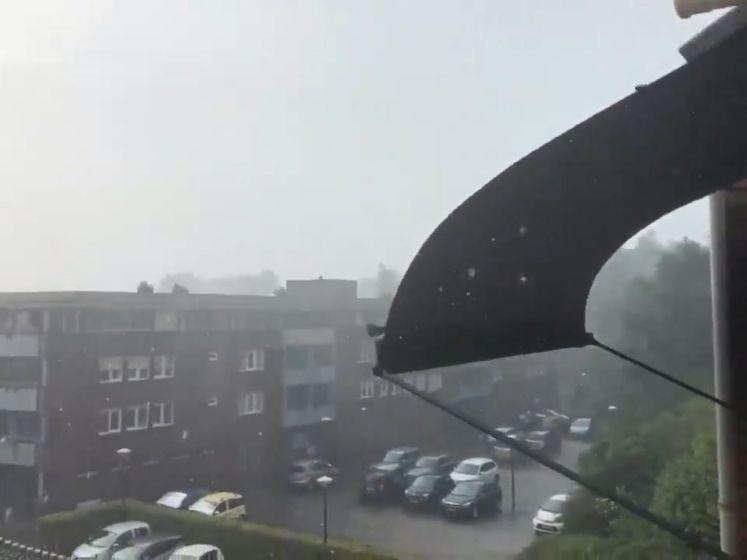 Zware regen- en onweersbuien in verschillende delen van het land