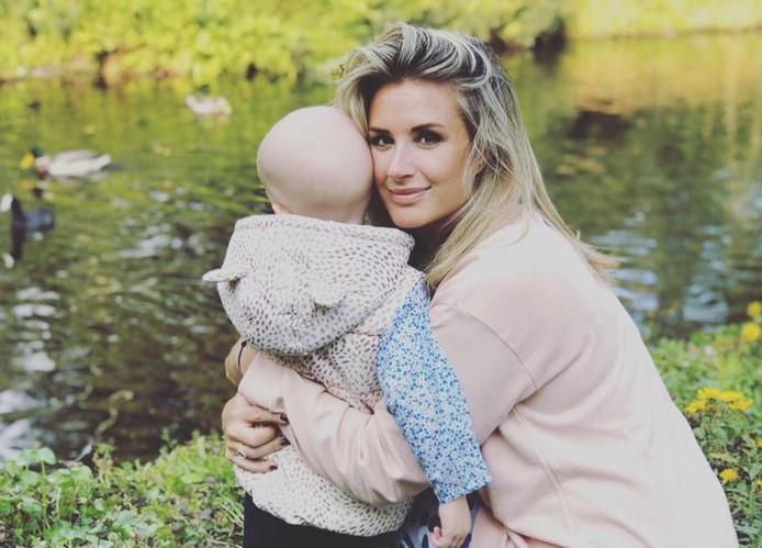 Chantal Bles met dochter Jada.
