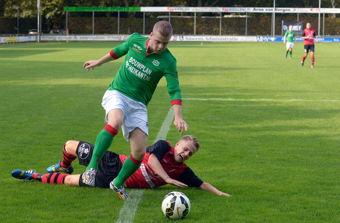Wesley Deenen in actie voor Germania.