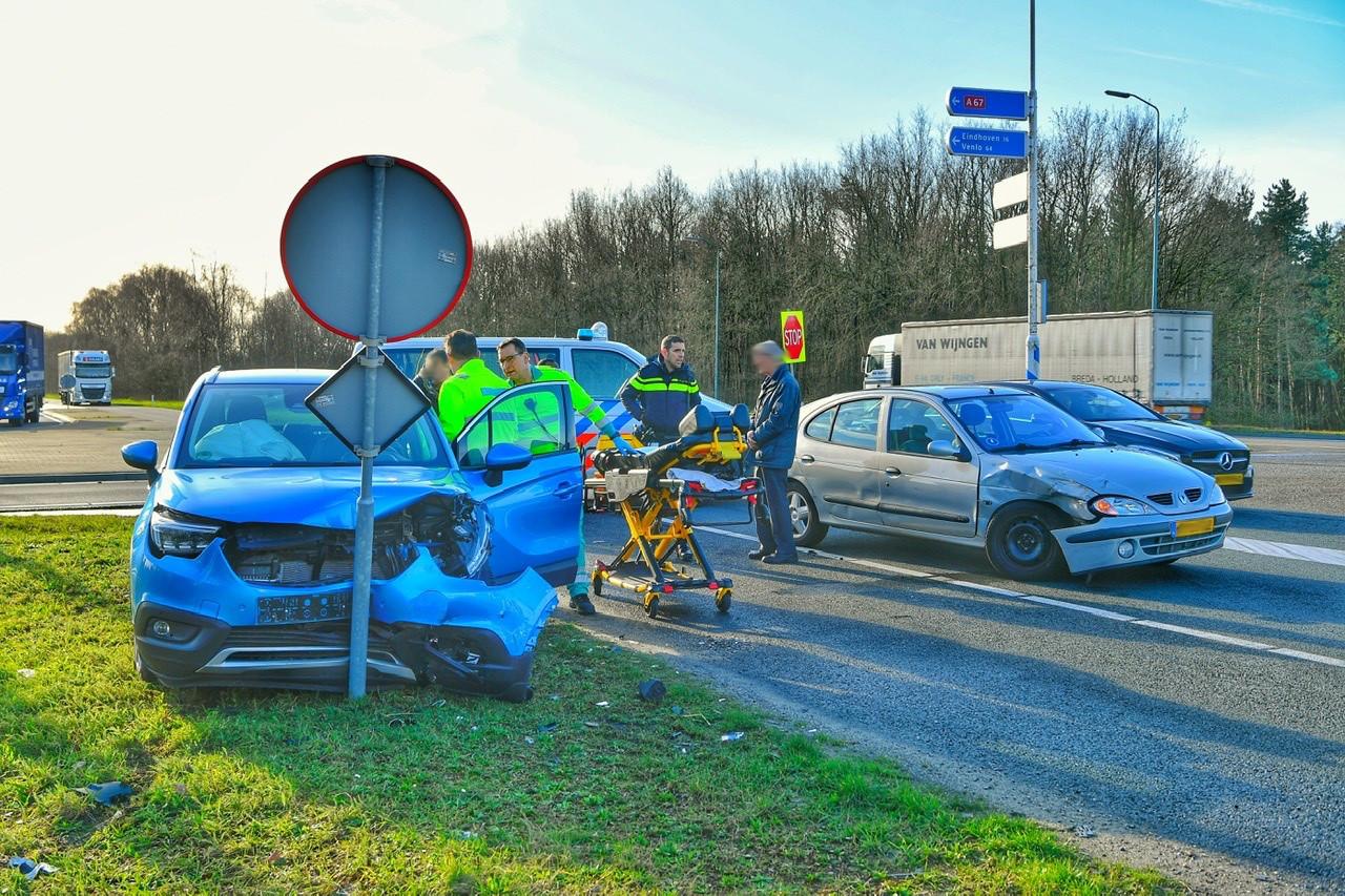 Ongeluk bij A67 bij Eersel