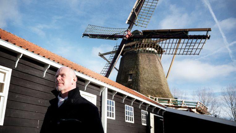 De molenaar en de krijtmolen in Amsterdam-Noord. © Marc Driessen Beeld
