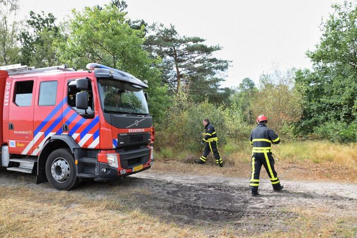 De brandweer rukte uit in Goirle.