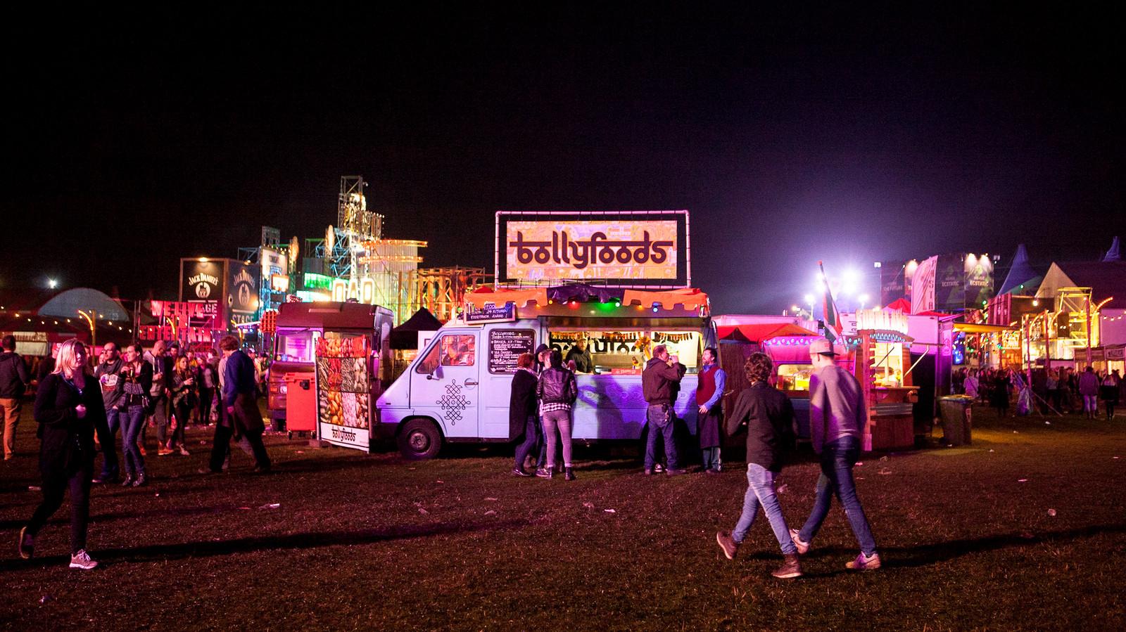Het festivalterrein van Paaspop in Schijndel staat ook altijd vol met foodtrucks.