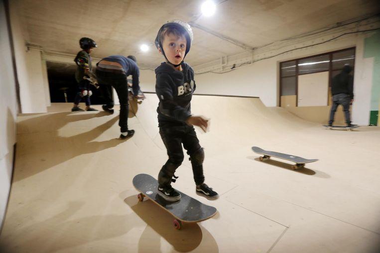 Push Skate Academy heeft een indoor skatepiste gebouwd op Oosteroever.