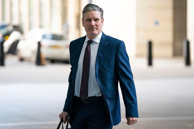 Keir Starmer volgt Jeremy Corbyn op als leider van de Britse Labourpartij. Beeld AP