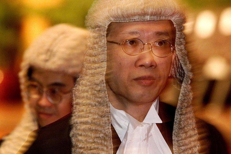 Advocaten dragen de traditionele pruik. Beeld afp