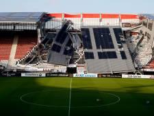 AZ-stadion voorlopig niet toegankelijk door instorten dak