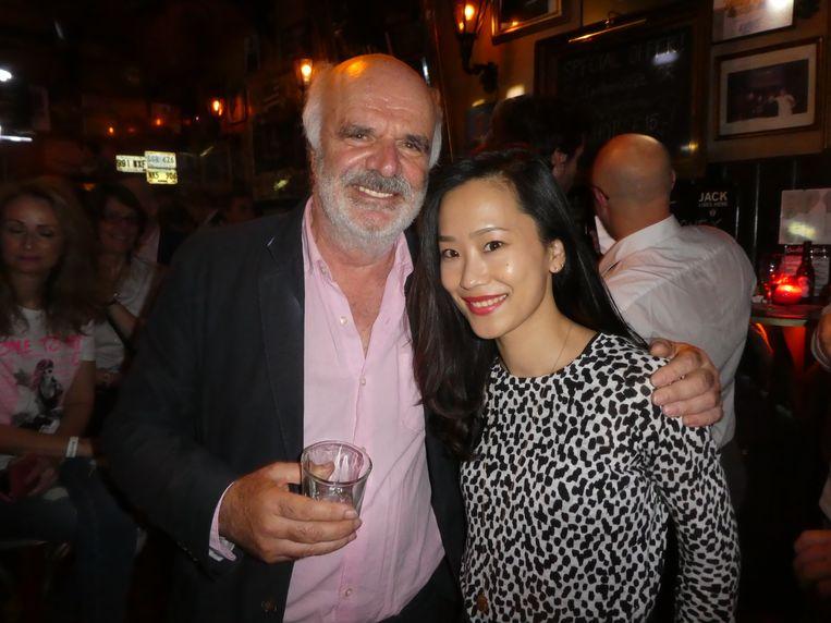 Organisator Michael Kraland en Ying Shao (Plantik Biosciences), rising star in deze business. Beeld Hans van der Beek