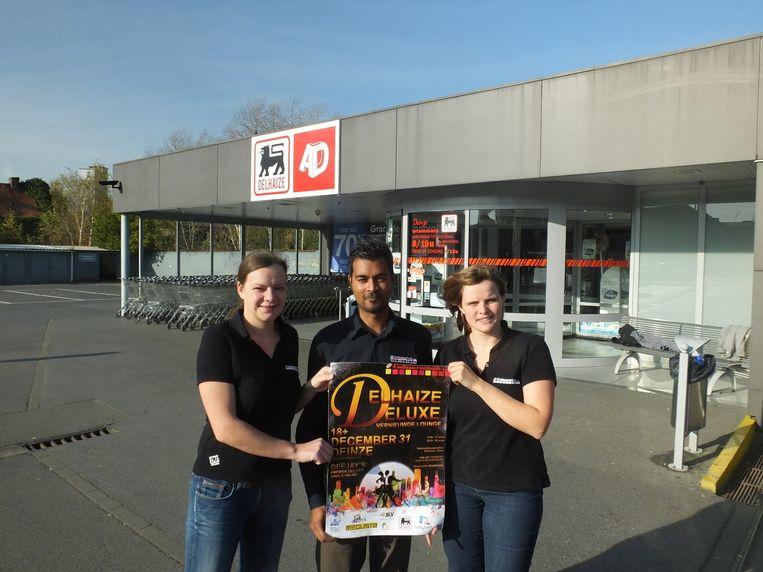Caroline Deconinck, Bridi De Bruycker en Ineke Poelaert van vzw Cultuurschok organiseren opnieuw Delhaize Deluxe.