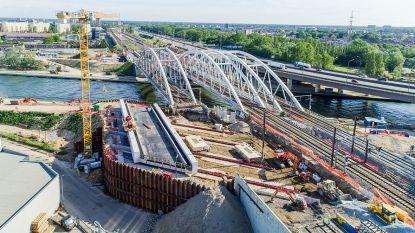 Oosterweel: voorbereidende spoorwerken aan Albertkanaal deze week afgerond