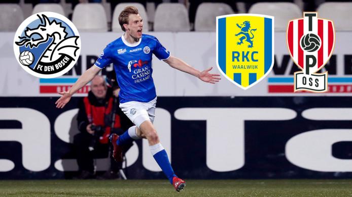 FC Den Bosch, RKC én TOP Oss staan in de play-offs.