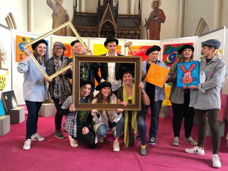 Kunstproject in kleuterschool Sterrenkind.