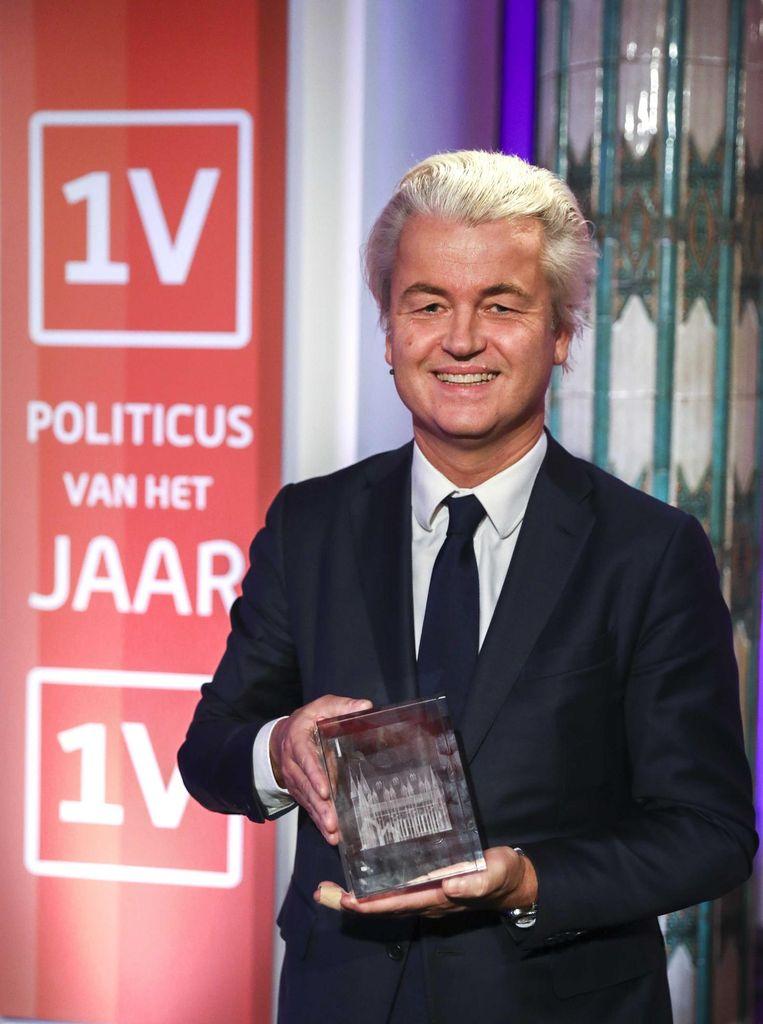 Geert Wilders won vandaag de Politicus van het Jaar-verkiezing van EenVandaag Beeld anp