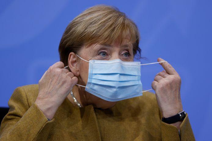 La chancelière allemande Angela Merkel à Berlin, le 25 novembre 2020.