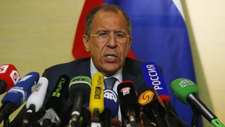 De Russische minister van Buitenlandse Zaken Sergej Lavrov. Beeld reuters