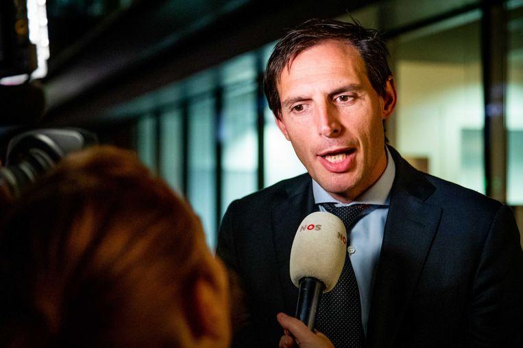 Wopke Hoekstra gaf maandagavond zijn HJ Schoo-lezing. Beeld ANP