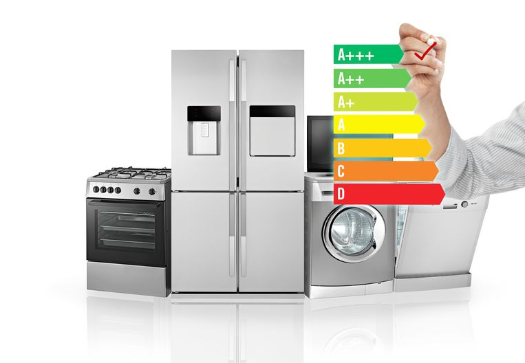 """De zuinigste elektrische apparaten op de markt dragen al lang niet meer het A-label, maar het A+++-label. """"Het verschil in energieverbruik tussen deze labels bedraagt maar liefst 20 tot 50%."""""""