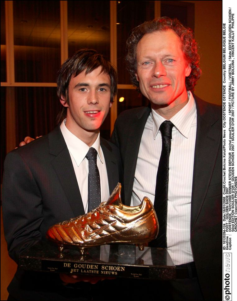 Michel Preud'homme met Gouden Schoen 2008 Steven Defour.