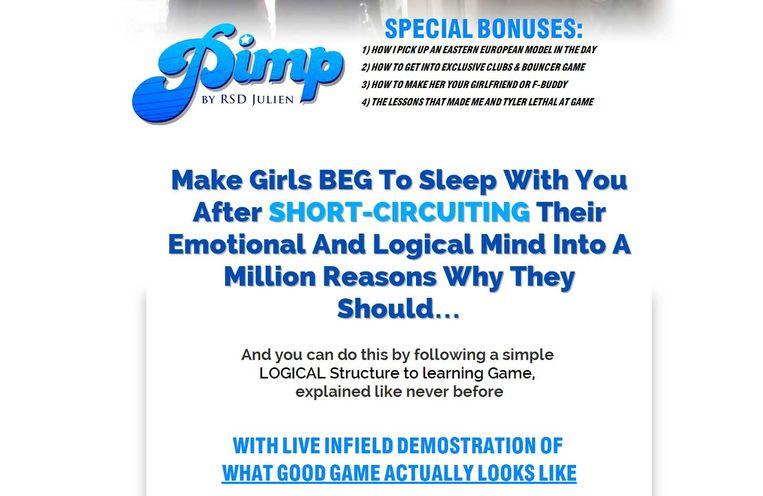"""Op zijn website belooft Blanc dat je """"meisjes kunt laten smeken met je te mogen slapen""""."""