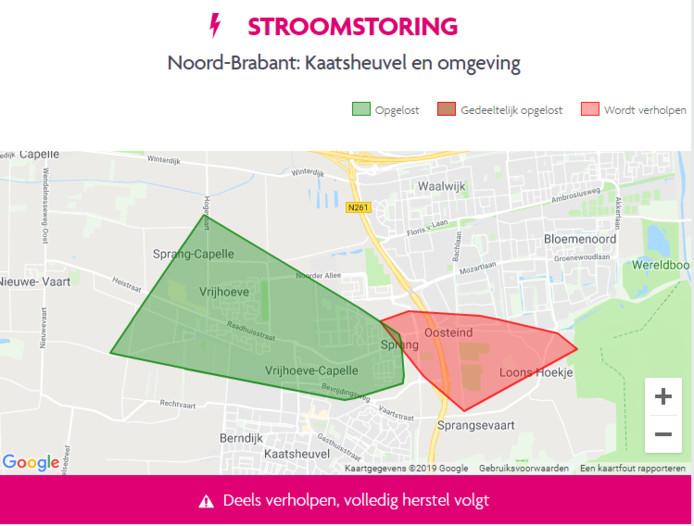 De stroomstoring in Waalwijk