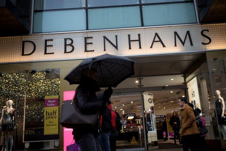 Een filiaal van Debenhams in Oxford Street in Londen.