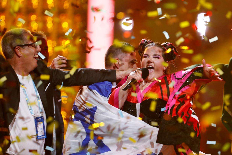 Vorig jaar zorgde Netta voor de Israëlische overwinning op het Eurovisiesongfestival.  Beeld REUTERS