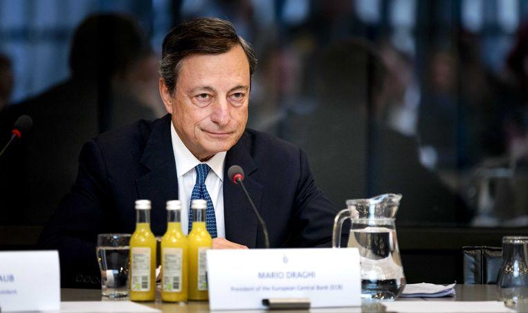Mario Draghi, de man die nooit speculeert. Beeld anp