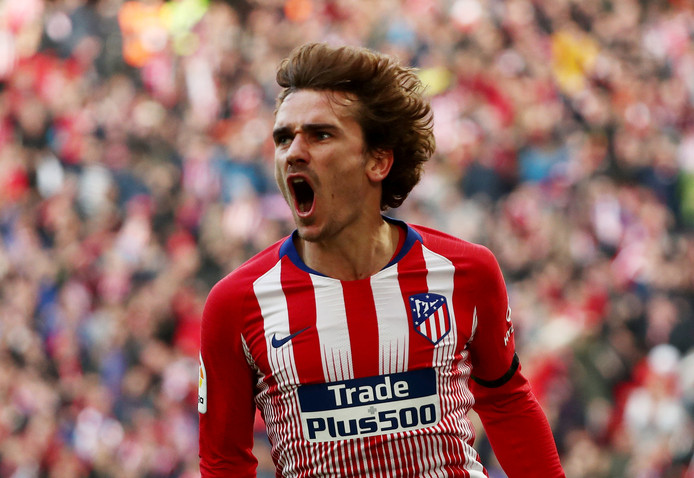 9 februari 2019: Antoine Griezmann van Atlético Madrid heeft in Wanda Metropolitano gescoord tegen Real Madrid. De Franse vedette hoopt in hetzelfde stadion op 1 juni de finale van de Champions League te spelen.
