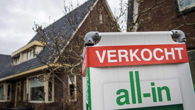 Vooral buiten de Randstad liep het aantal verkopen op Beeld anp