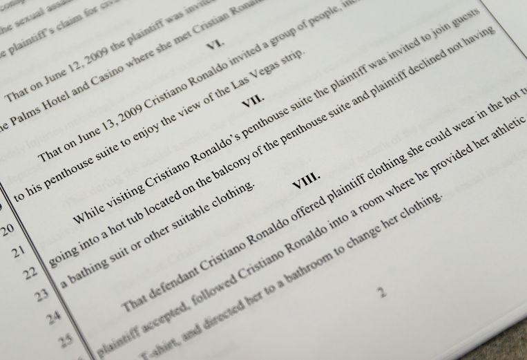 Een gerechtsdocument uit de zaak.