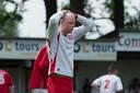 Babberich-middenvelder Giel Neervoort baalt van de degradatie naar de tweede klasse in 2014. De amateurclub is inmiddels afgehaakt in de top van het amateurvoetbal.