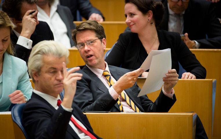 MP Wilders (l) and MP Bosma. Beeld anp
