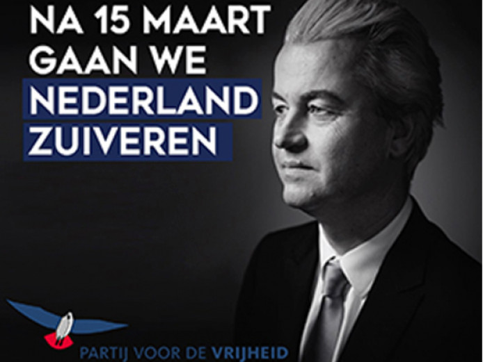 Onderdeel van de campagne was een PVV-advertentie.