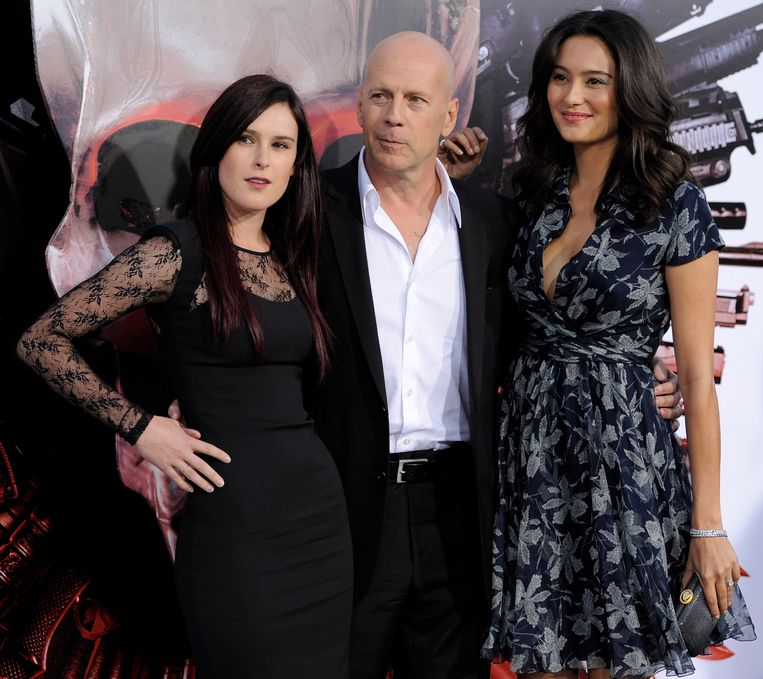 Bruce Willis, Rumer Willis en Emma Heming.