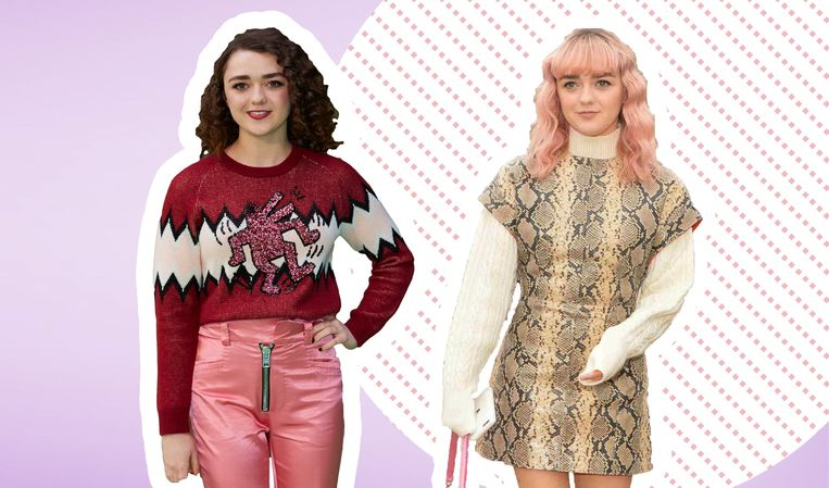 Maisie Williams of Arya Stark uit 'Game of Thrones' koos voor een opvallende roze coupe.